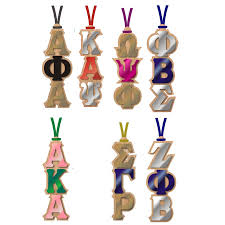 divine 9 sorority fraternity mirrored wood tiki necklace u2013 campus