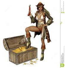 pirate with a treasure royalty free stock images image
