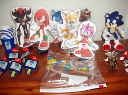 sonic the hedgehog party supplies sonic the hedgehog party package favors and figures