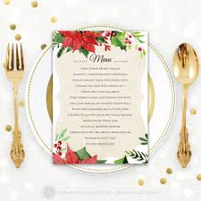 printable christmas party invitations christmas menu printable dinner menu rustic christmas dinner
