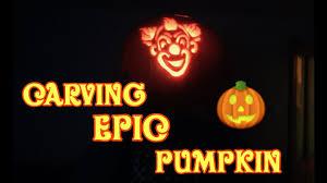 carving an epic clown pumpkin halloween special youtube