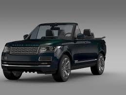 range rover black range rover autobiography black lwb cabrio l405 2016 3d model max