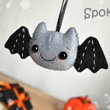 felt decor bat ornament felt ornaments