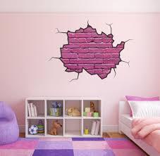 28 brick wall stickers effect brick wall sticker broken brick wall stickers cracked wall decal pink brick wall girls bedroom wall sticker