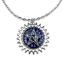 anime necklace images Aluckyday new anime black butler ciel eye blue star jpg