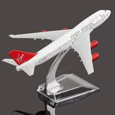 16cm airplane metal plane model aircraft b747 virgin atlantic