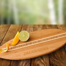 cutting board personalized jds personalized gifts personalized gift surfboard bamboo cutting