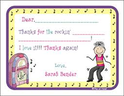 dance theme personalized party invitations by the personal note