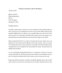 writing a termination letter termination letter for employee