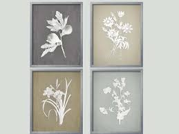 French Country Wall Art - gray botanical french country wall art botanical