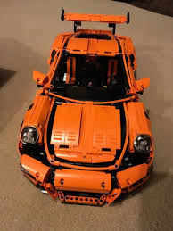 porsche gt3 rs orange lego technic porsche 911 gt3 rs lego 42056