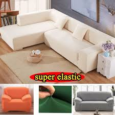 stretch furniture cover armchair solid polyester sectional fabric