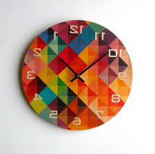 cool wall clock home design gloss white red black silver modern kitchen retro