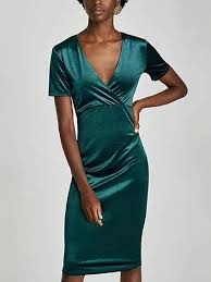 dark green velvet v neck short sleeve bodycon dress u2013 mynystyle