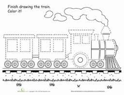 train tracing worksheet education com