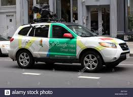 Street View Google Map New York Usa Car Camera With Google Maps Street View Stock Photo