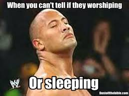 I Know Memes - sleeping or worshipping in church meme dust off the bible