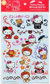 sanrio hello kitty halloween tattoo sticker sheet 3 i0927