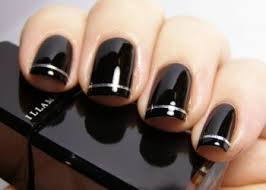 cute black nail polish designs trend manicure ideas 2017 in pictures