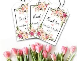 Thank You Tags Wedding Favors Templates by Winter Wedding Tags Etsy