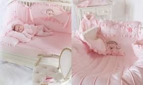 Luxury Baby Bedding Sets Baby Pink Princess Luxury Cot Crib Nursery Children Bedding