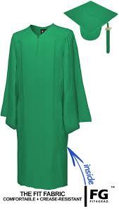 green cap and gown matte emerald green cap gown bachelor graduation set rs4251465601356