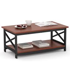 Computer Coffee Table Amazon Com Tribesigns Modern Coffee Table With Lower Storage