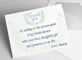 wedding shower thank you gifts etiquette and sles bridal shower gratitude notes everafterguide
