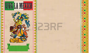 vintage background with mexican ornaments emblem gods