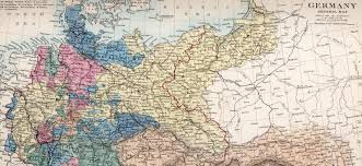 German States Map by Historical Research Maps German States