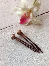 decorative hair pins brown freshwater pearl large hair pins brown pearl bobby pins