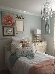 Small Teenage Bedroom Decorated With Paisley Wallpaper And by Girls Bedroom Mint Coral Blush White Metallic Gold My Own