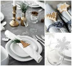 diy christmas table decor napkin rings snowflake wine glass