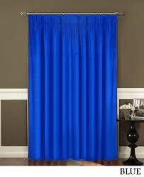blue pinch pleated curtains u0026 backdrops