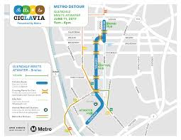 Amtrak Map Schedule by Ciclavia Glendale Meets Atwater Village Presented By Metro
