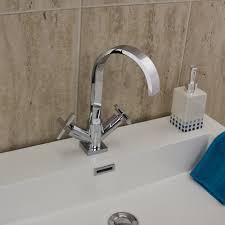 astini luna chrome swan neck bathroom basin tap b009ax ebay