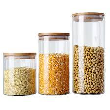 boite de cuisine 6 taille en verre boîte de rangement thé boîte alimentaire pour la
