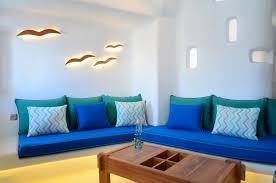 living room cool modern living room decoration with blue sofa and