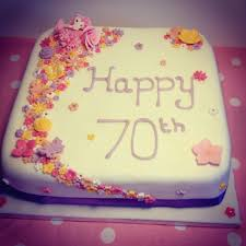 70th birthday cakes 70th birthday cake white cherry bakery