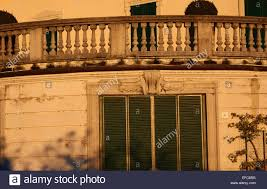 elegant curved stone balustrade and shutters hotel florence