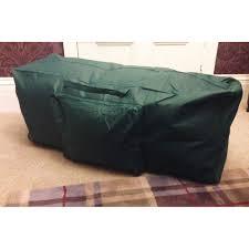 green artificial tree storage bag