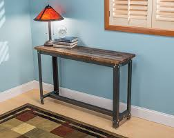 wood and iron sofa table rockler adds contemporary diy accent tables new steel table