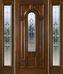 Front Doors With Glass Side Panels Front Door With Sidelights And Transom Saratoga Exterior Doors