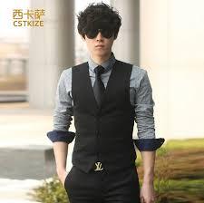 2016 new hot men s dress formal business men party dress vest suit