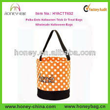 wholesale easter buckets black and orange polka dots easter buckets trick or