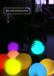 Glow In The Dark Home Decor Diy Glow Stick Balloons Say Yessay Yes