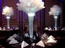1920 s gatsby inspired ostrich feather centerpieces by sweet 16