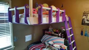 Partially Freestanding Loft Bed Under   Steps With Pictures - Suspended bunk beds