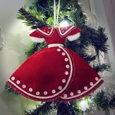 christmas season deer and fox felt christmas ornaments cutesy