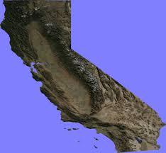 San Francisco Elevation Map Elevation Map Of California California Map